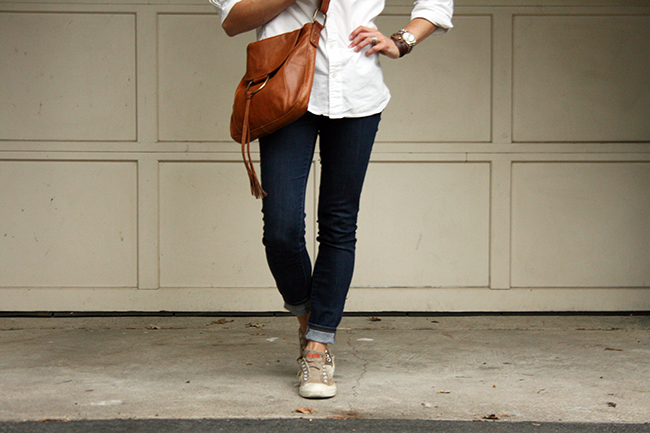 Button up and jeans for weekend wear