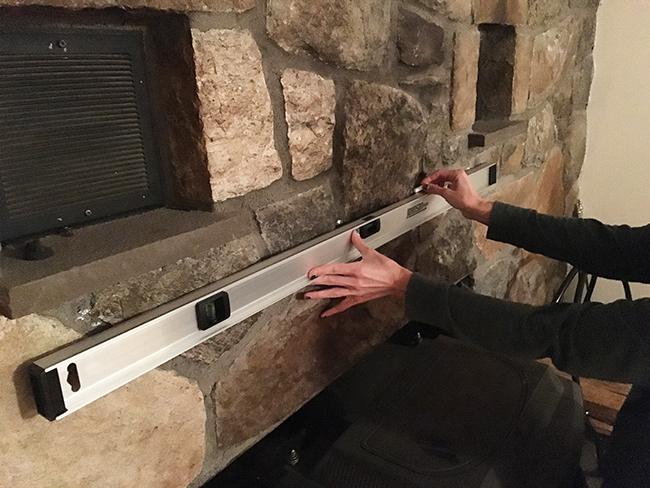 installing mantel