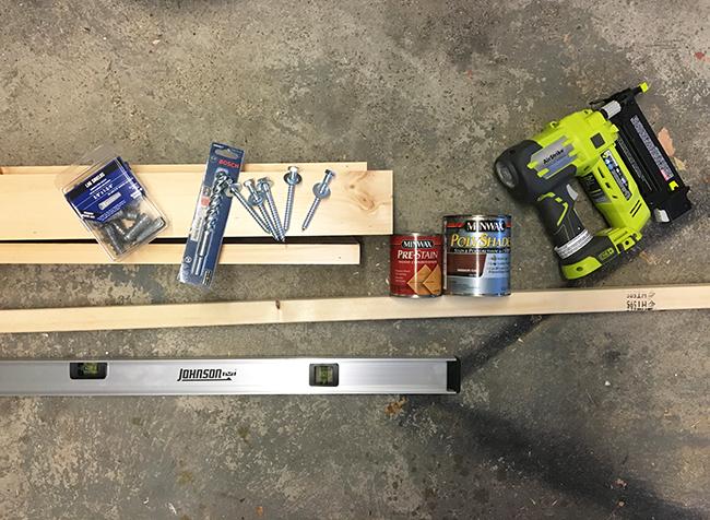 DIY Mantel Supplies