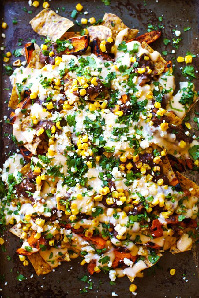 Grilled Sweet Potato Nachos