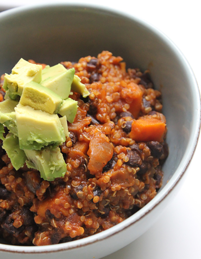 Vegan Sweet Potato Quinoa Chili