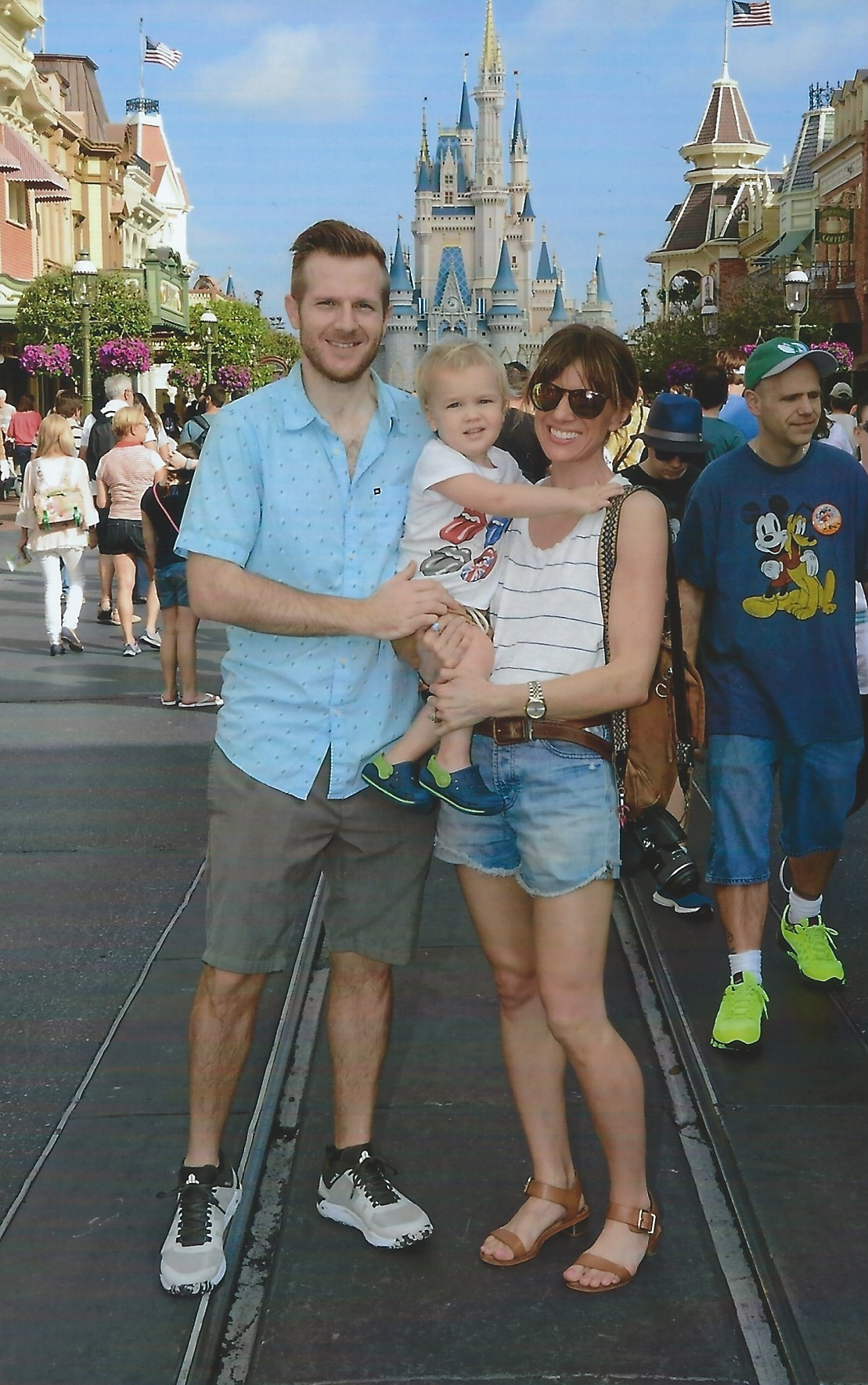 1st family photo at Disney!