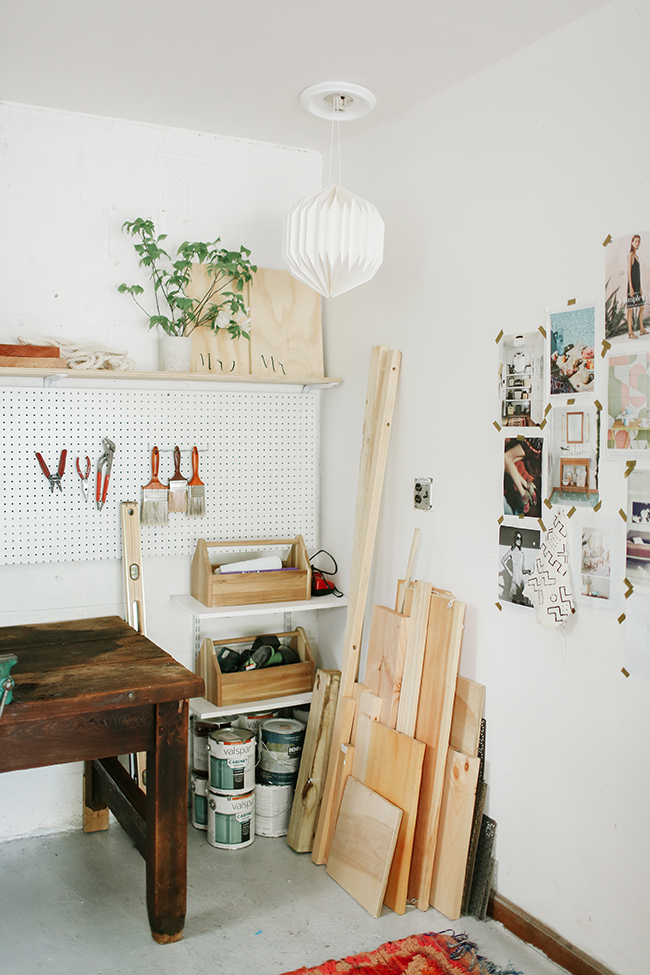 One Room Challenge Garage Turned Studio // Undeclared Panache