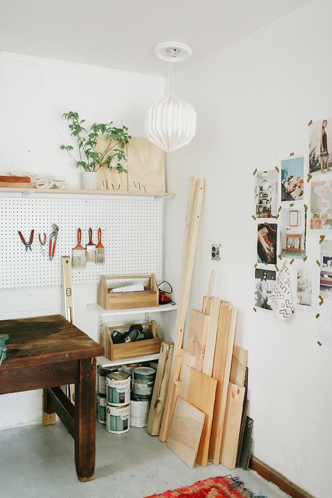 One Room Challenge Garage Turned Studio // Undeclared Panache
