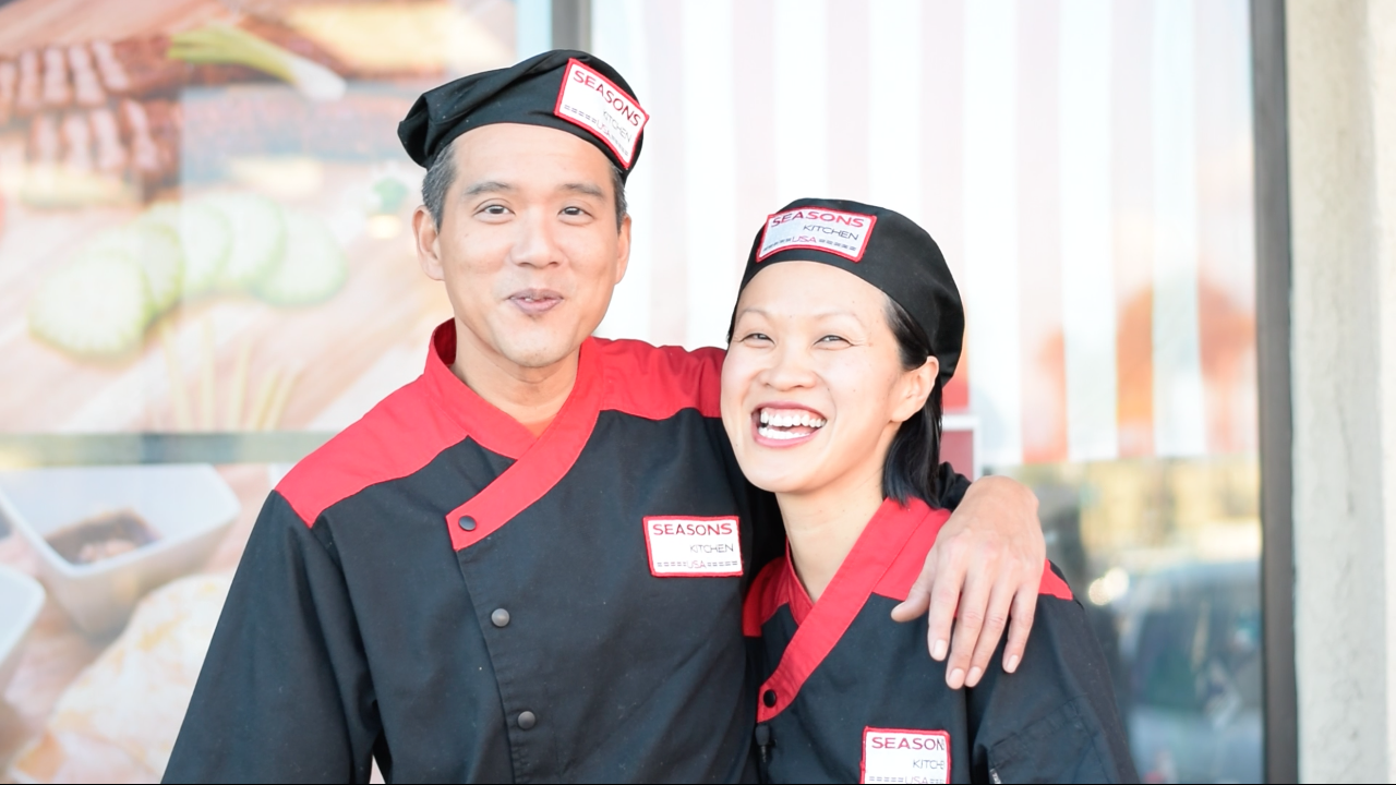 (L to R): Husband and wife pair Soon and Khim, owners of Seasons Kitchen USA.