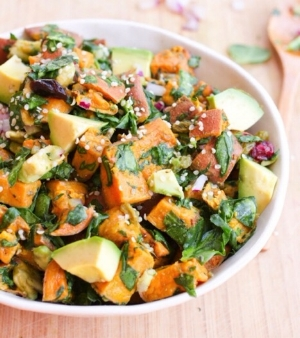 30 Day Salad Challenge: Heart Healthy Sweet Potato Salad by Cheri Tillman, Total Wellness Resource Center, California.
