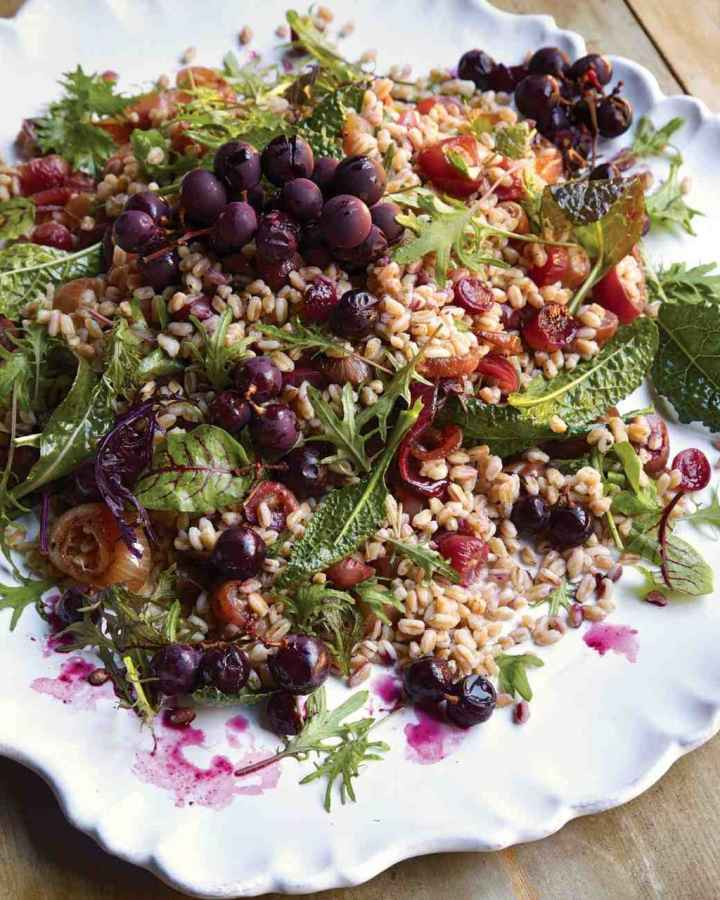 30 Day Challenge Farro Salad with Oven Roasted Grapes from Total Wellness Resource Center