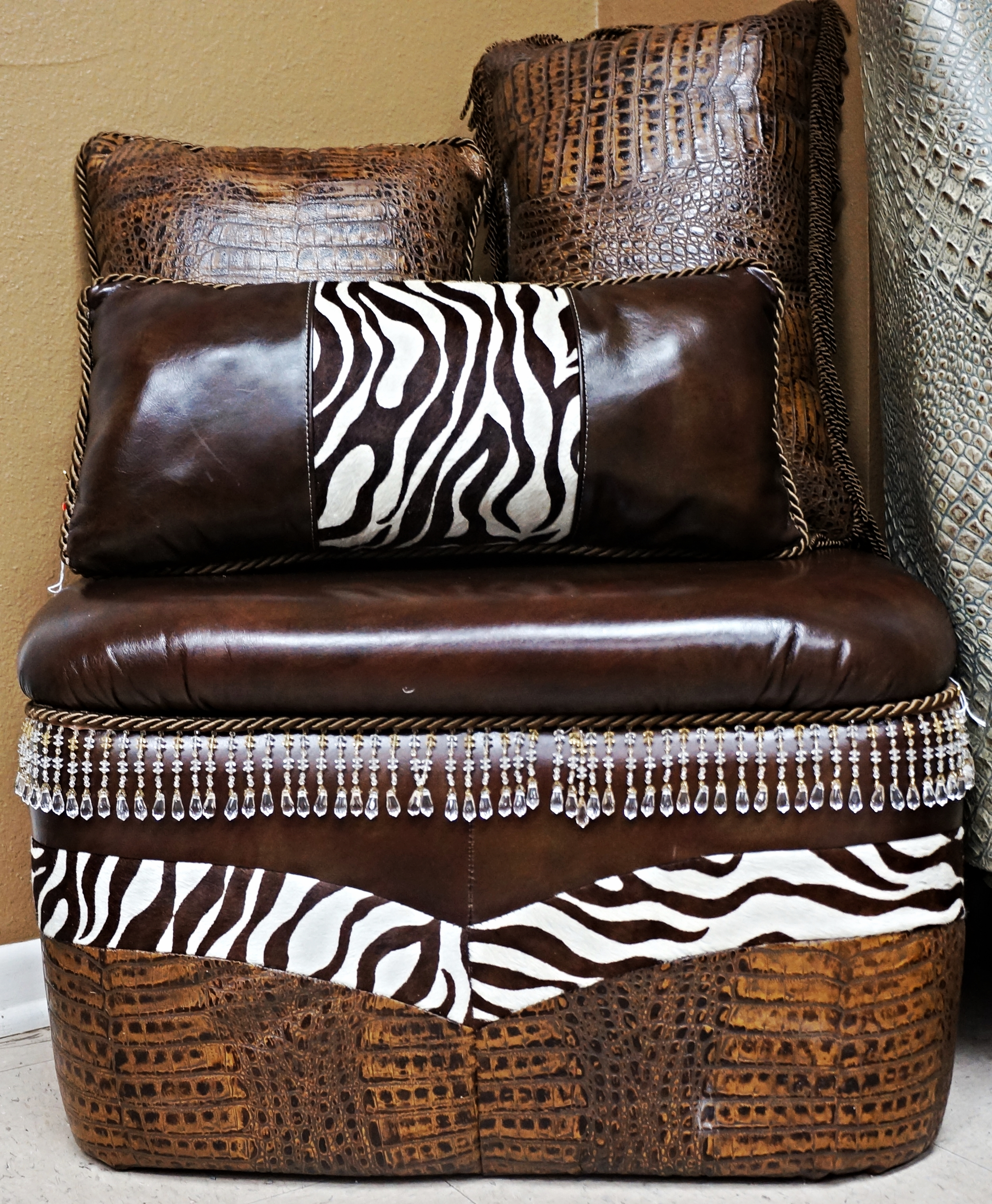Custom Ottoman and Pillows