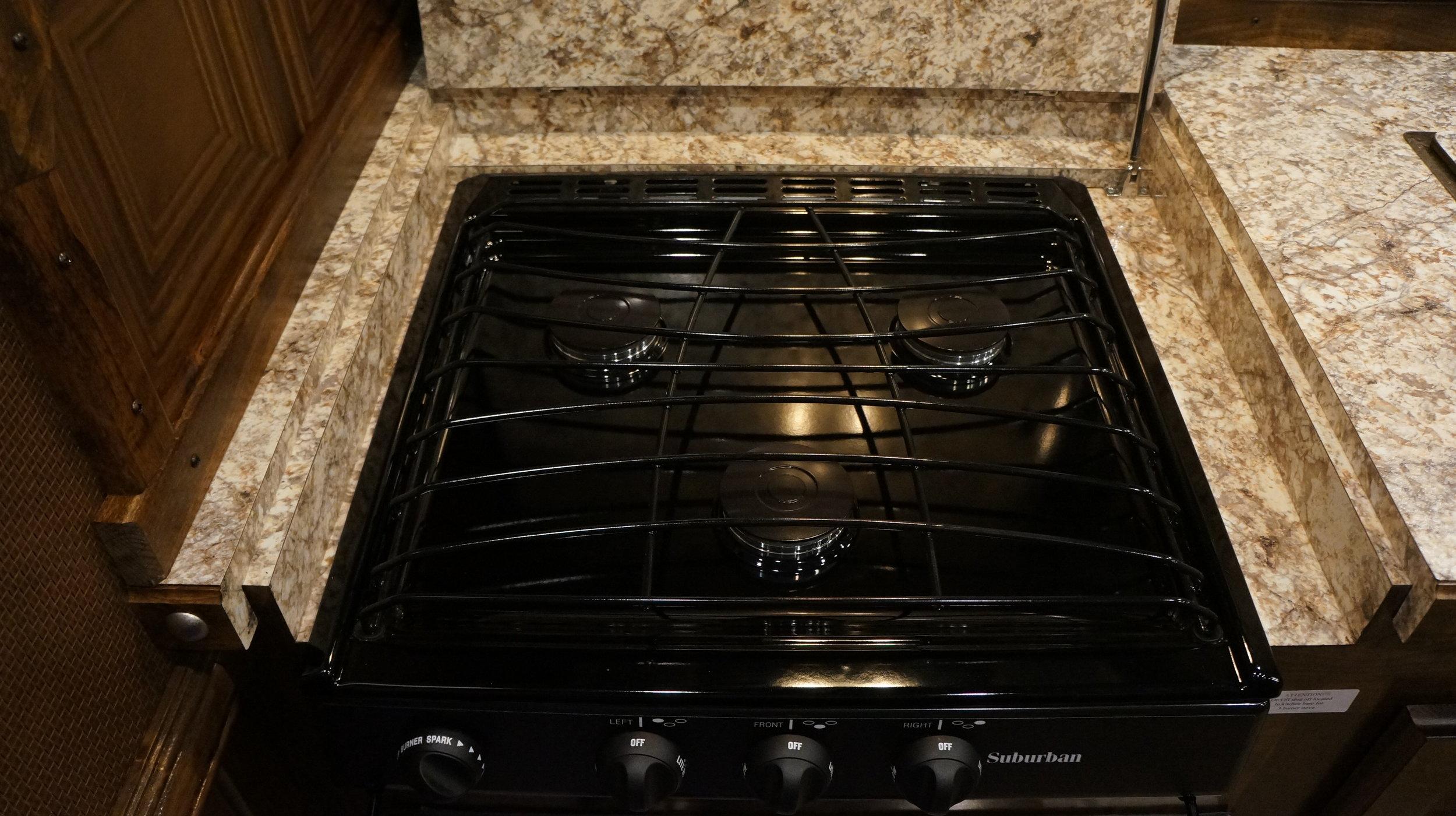 Recessed 3-Burner Cooktop