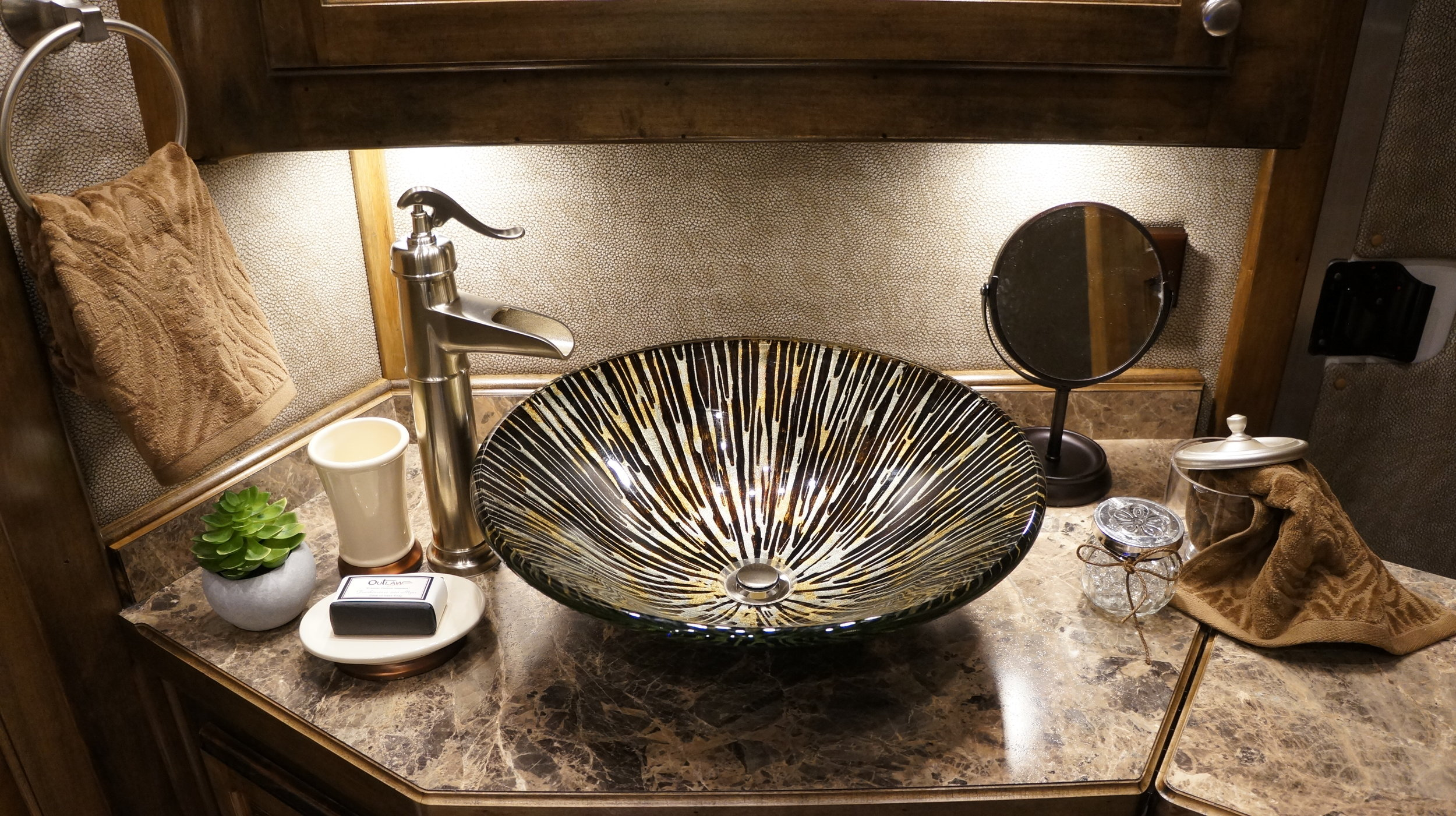 Vessel Sink with Nickel Faucet