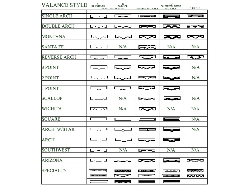 Valance Designs