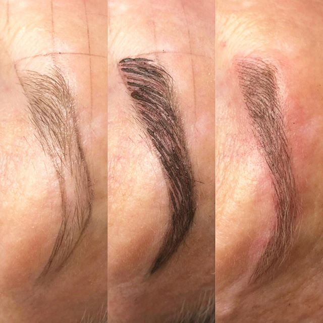 The Process of Microblading. Mapping, First Pass with Pigment, & Ta Da!