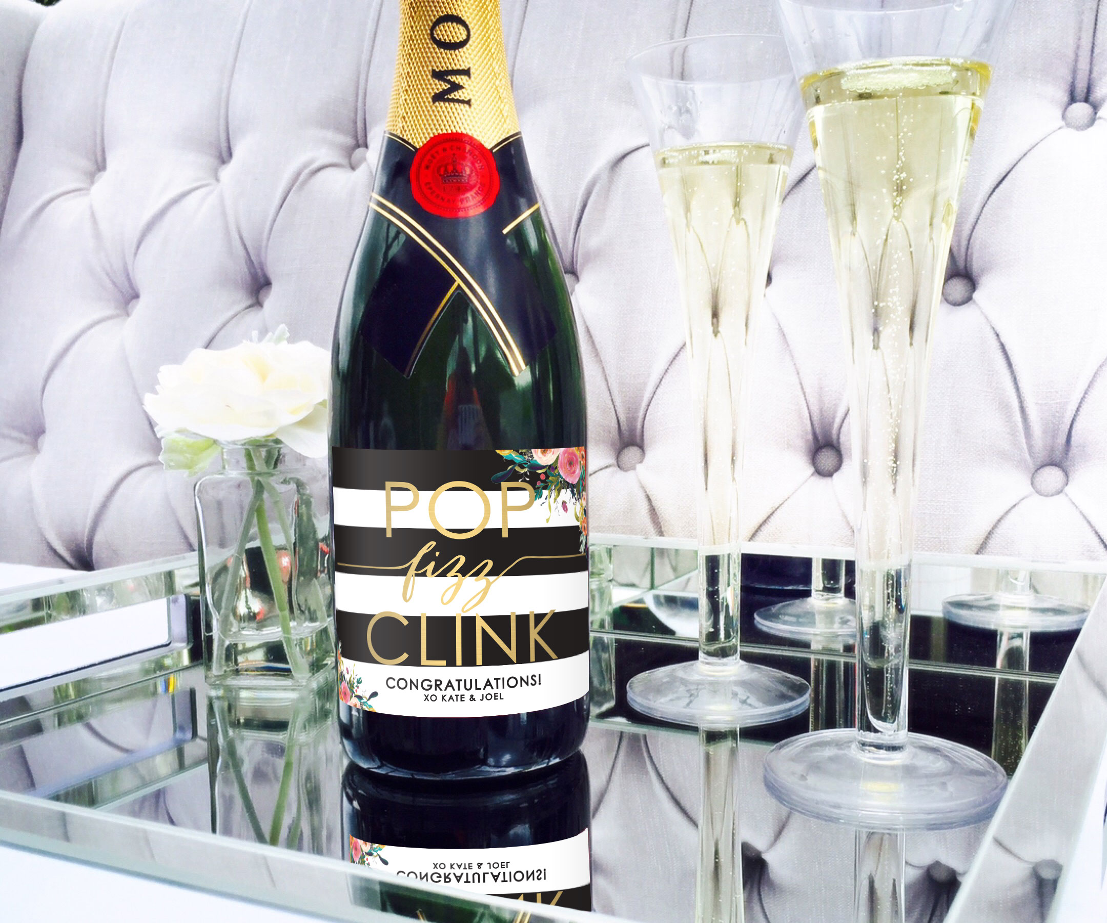Pop Fizz Clink Custom Champagne Label