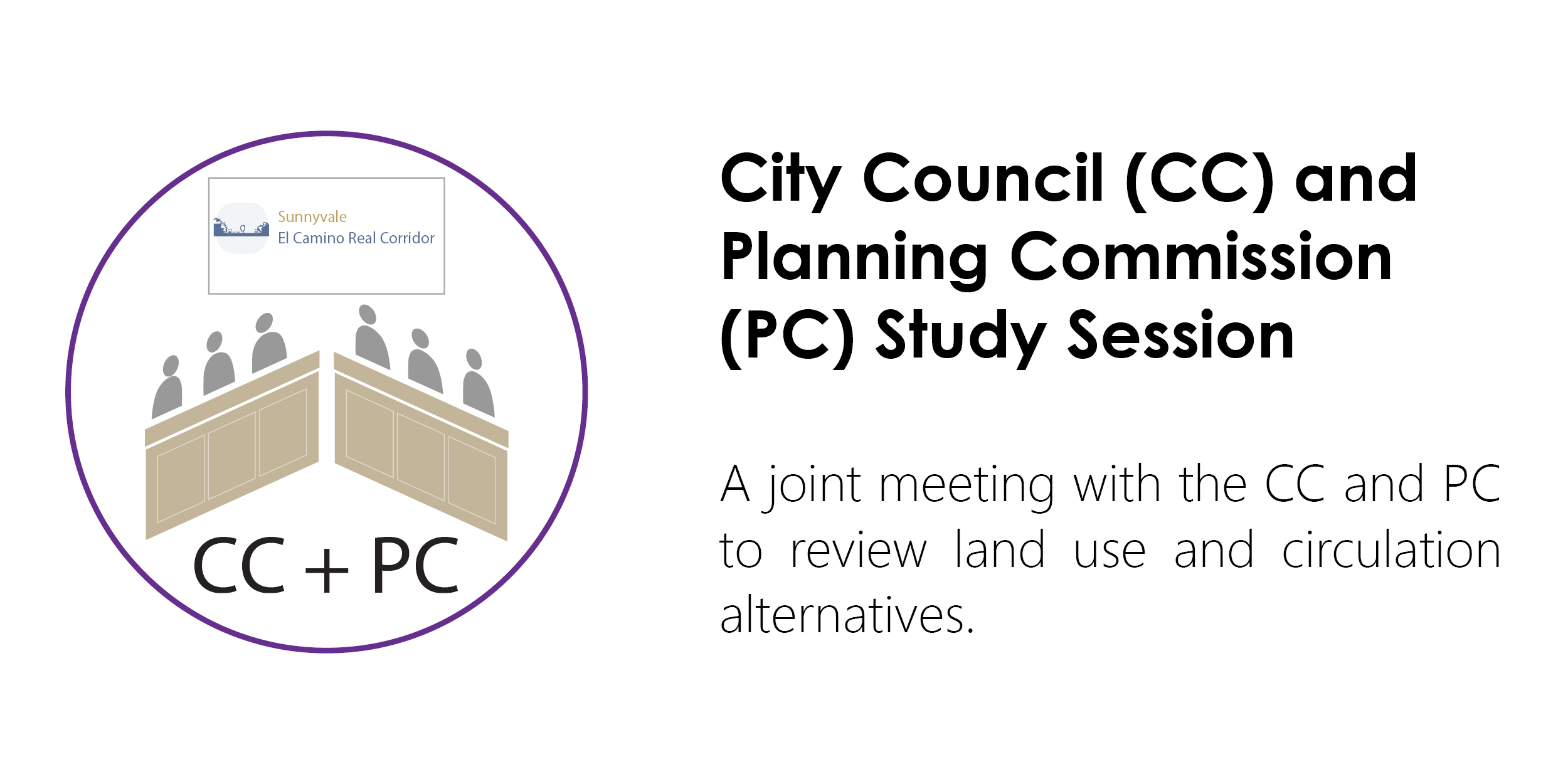 Logo and description of City Council and Planning Commission Study Session.