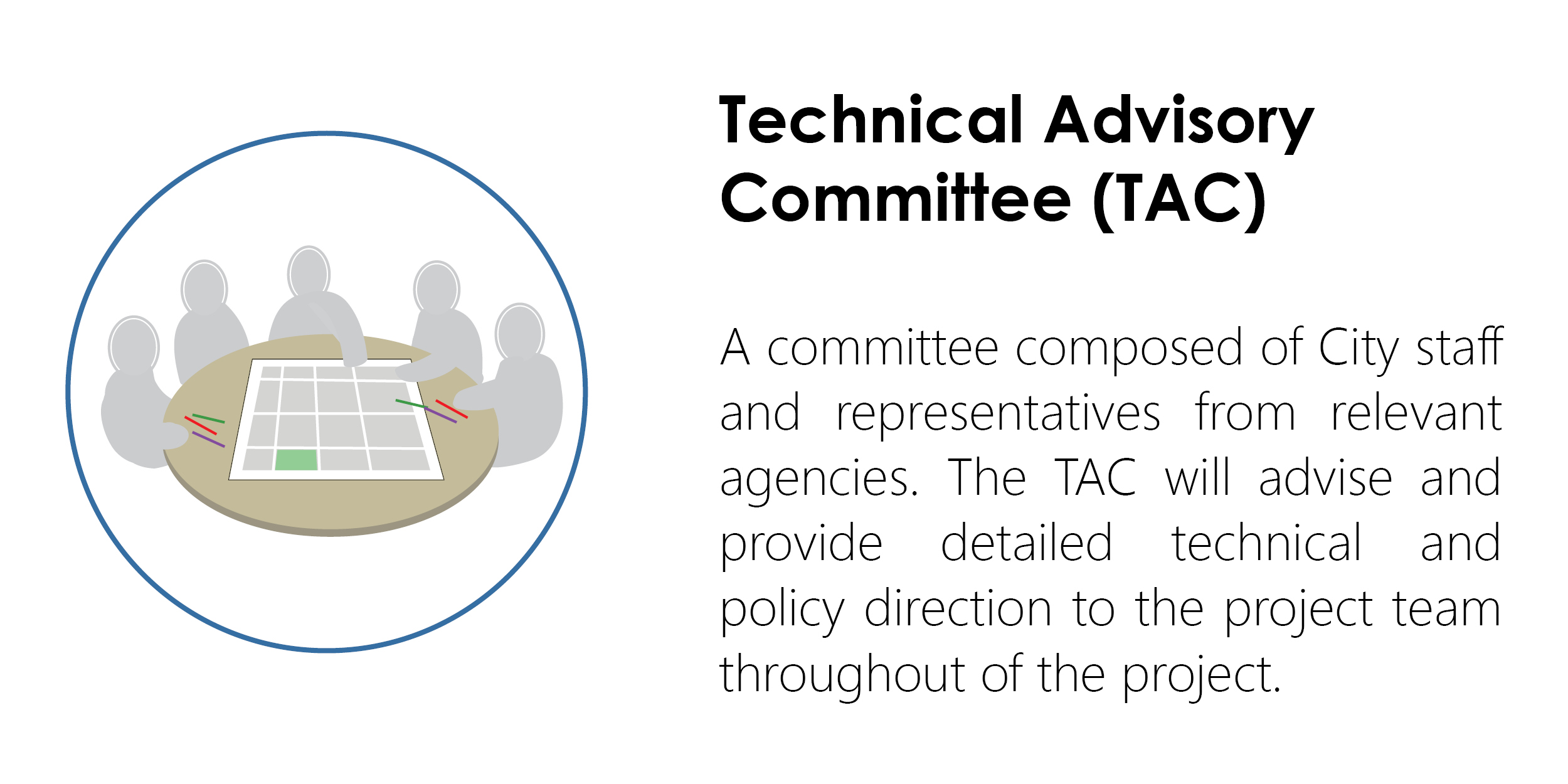 Logo and description of Technical Advisory Committee (TAC).