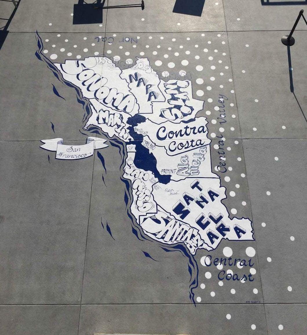 Commissioned Outdoor Mural 6 for GPJ | Levi's Stadium, Santa Clara USA, 2015