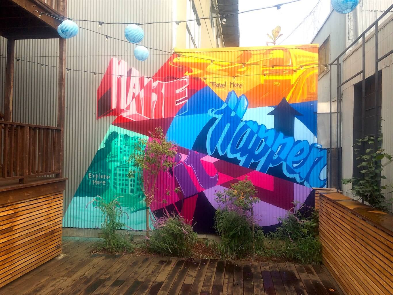 Commissioned Office Mural for Bluesmart | SOMA San Francisco USA, 2015
