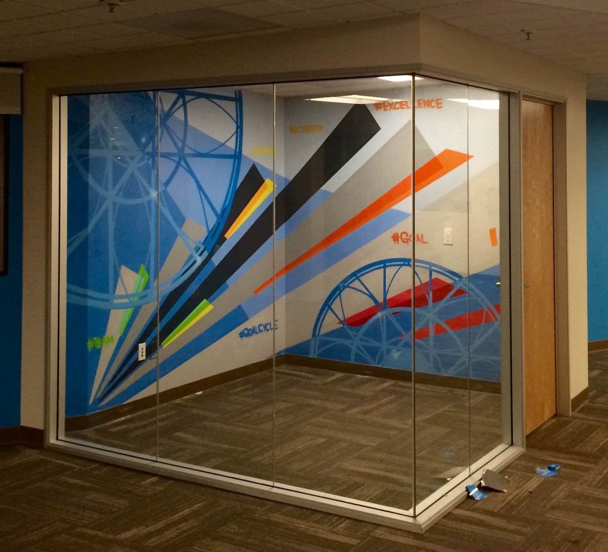 Commissioned Office Mural 2 for Betterworks | Redwood City USA, 2015