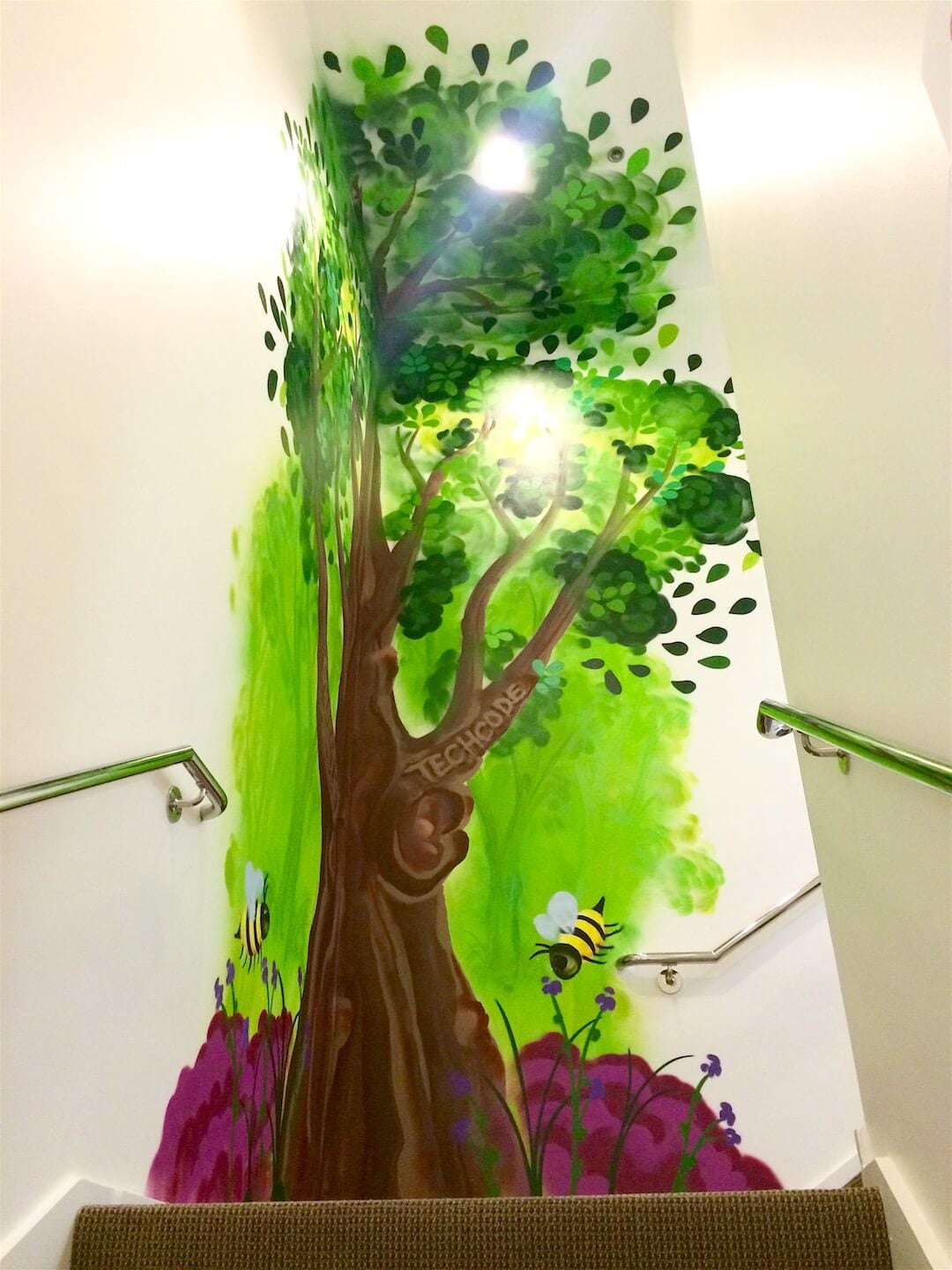 Commissioned Office Mural 3 for Techcode | Mountain View USA, 2015