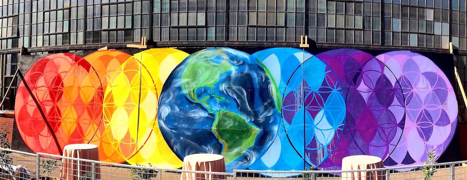 Commissioned Large-scale Mural for 109 World Launch | Berkeley USA, 2015