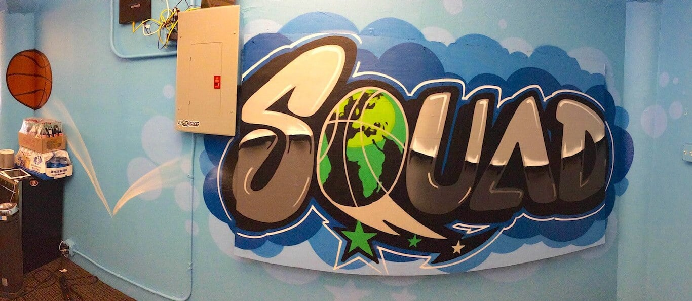 Commissioned Office Mural 2 for Squad Sports | SOMA San Francisco USA, 2015