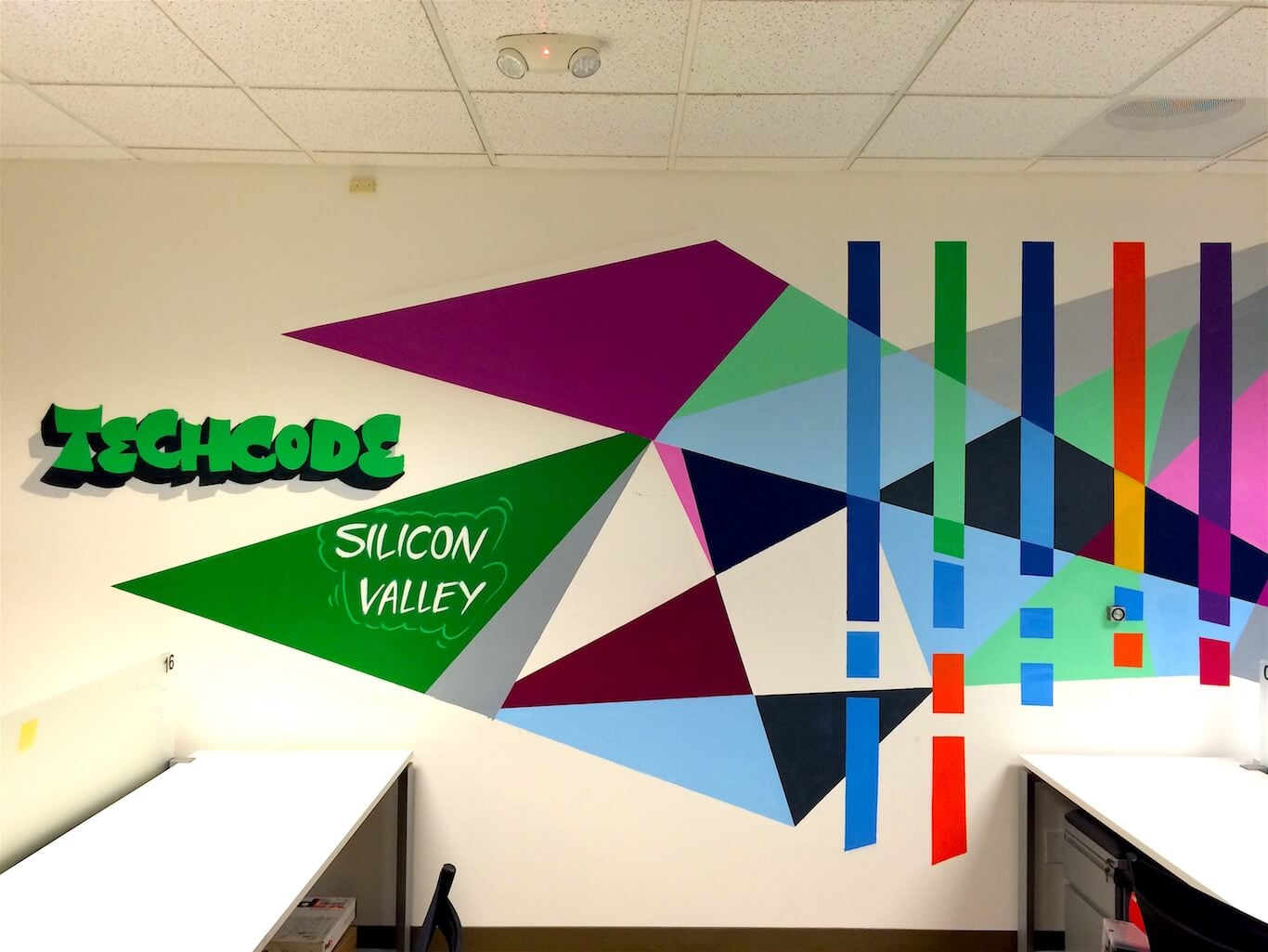 Commissioned Office Mural 5 for Techcode | Mountain View USA, 2015