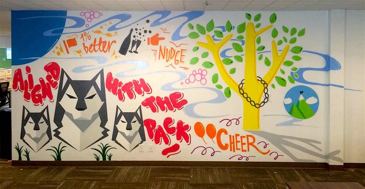 Commissioned Office Mural 4 for Betterworks | Redwood City USA, 2015