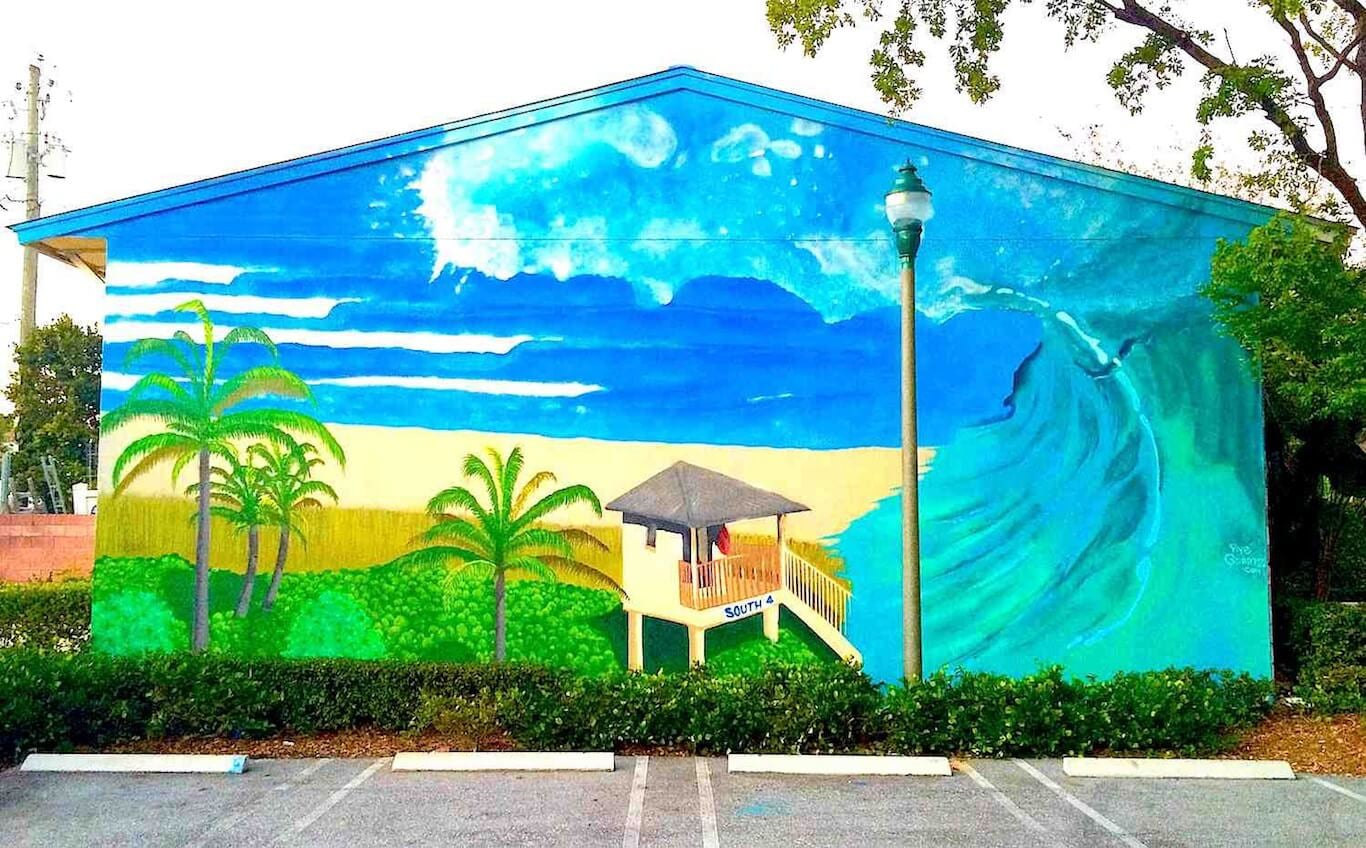 Commissioned Outdoor Mural | Delray Beach USA, 2014