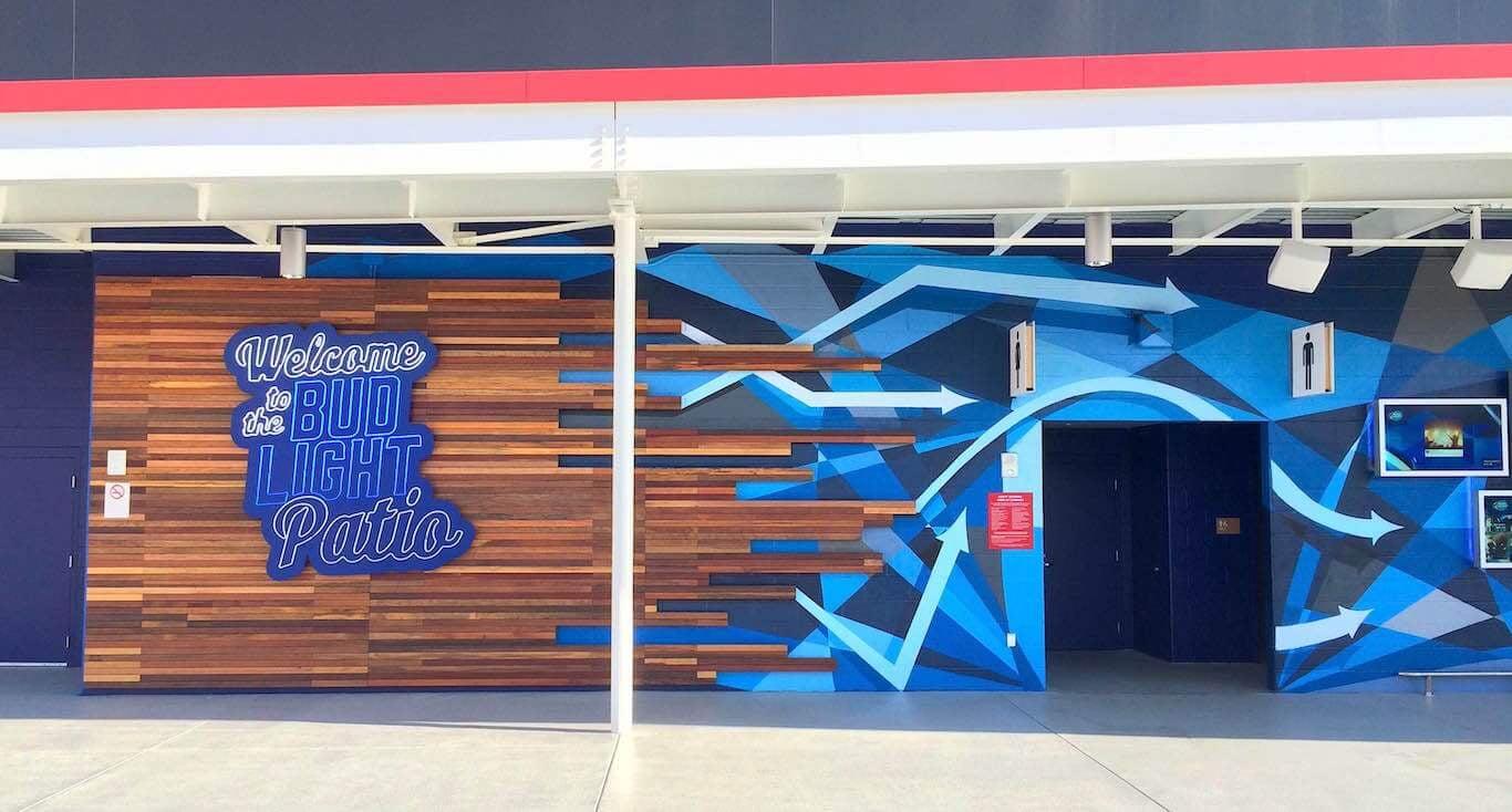 Commissioned Outdoor Mural 8 for GPJ | Levi's Stadium, Santa Clara USA, 2015