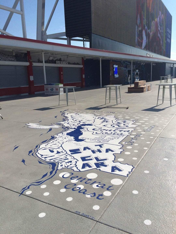 Commissioned Outdoor Mural 9 for GPJ | Levi's Stadium, Santa Clara USA, 2015