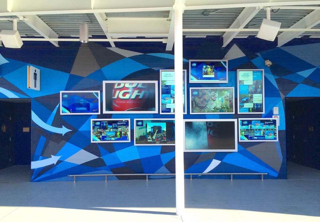 Commissioned Outdoor Mural 11 for GPJ | Levi's Stadium, Santa Clara USA, 2015