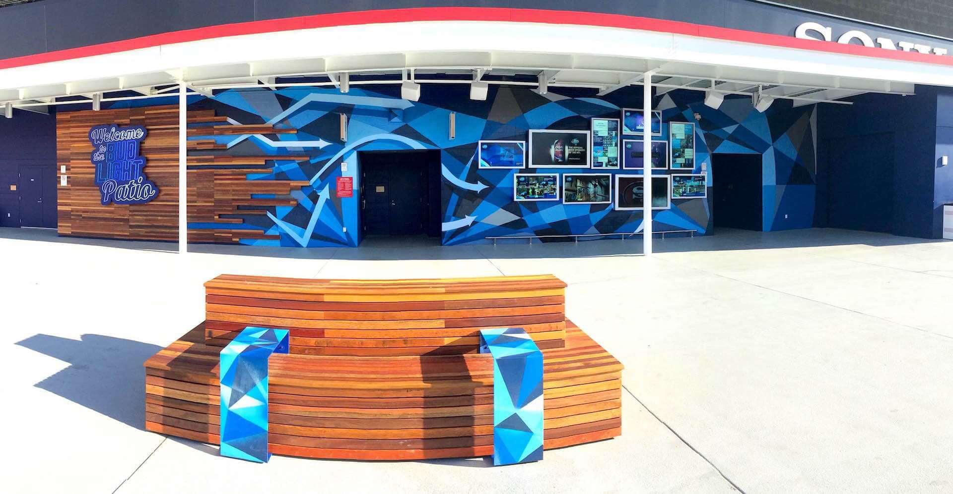 Commissioned Large-scale Mural 2 for GPJ | Levi's Stadium, Santa Clara USA, 2015