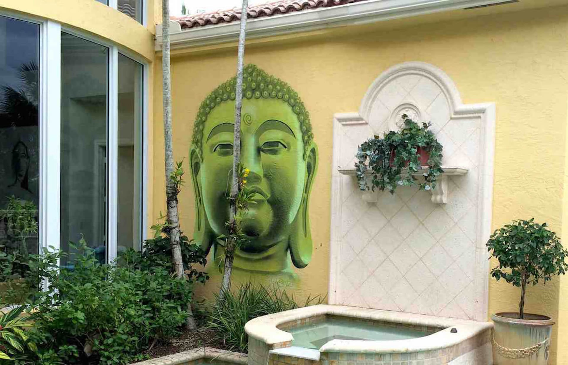 Private Commissioned Buddha Mural | Miami USA, 2014