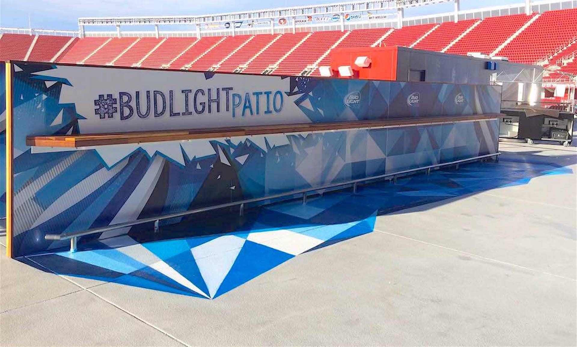 Commissioned Floor Mural for GPJ | Levi's Stadium, Santa Clara USA, 2015