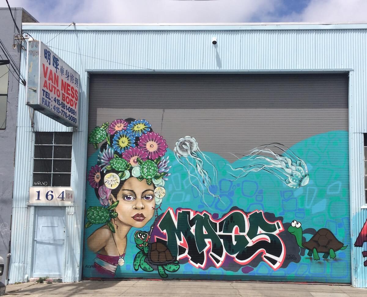 San Francisco Graffiti Mural by Alynn-Mags