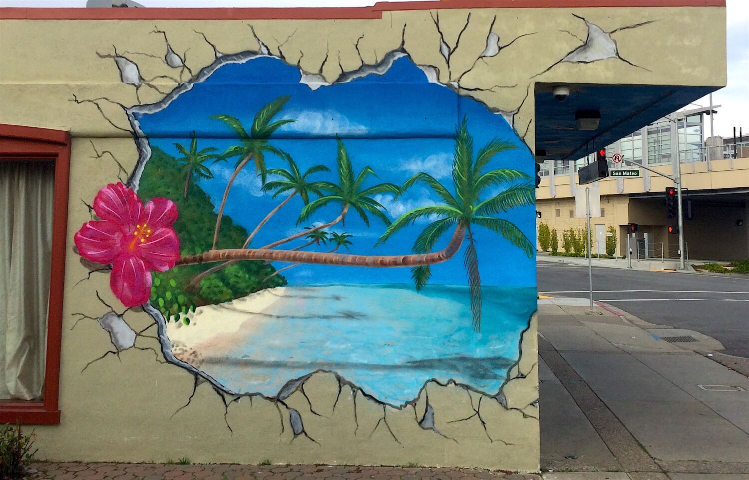 Commissioned Paradise Mural | San Bruno USA, 2016