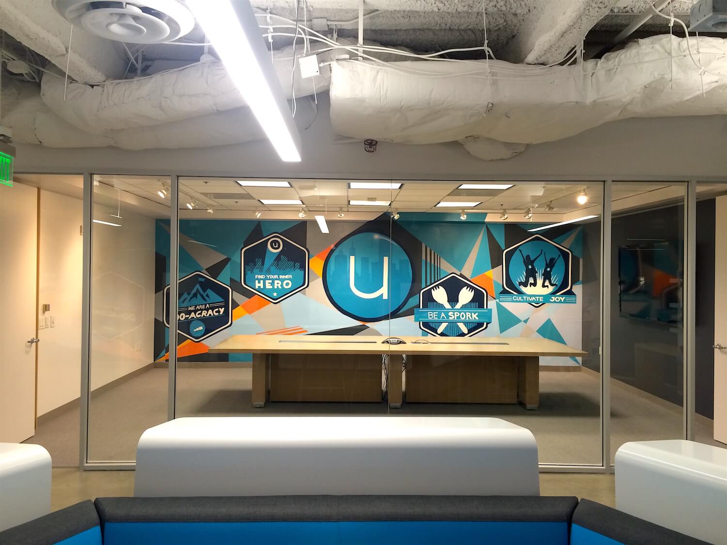 Commissioned Conference Room Mural for Ubiquity | San Francisco USA, 2016