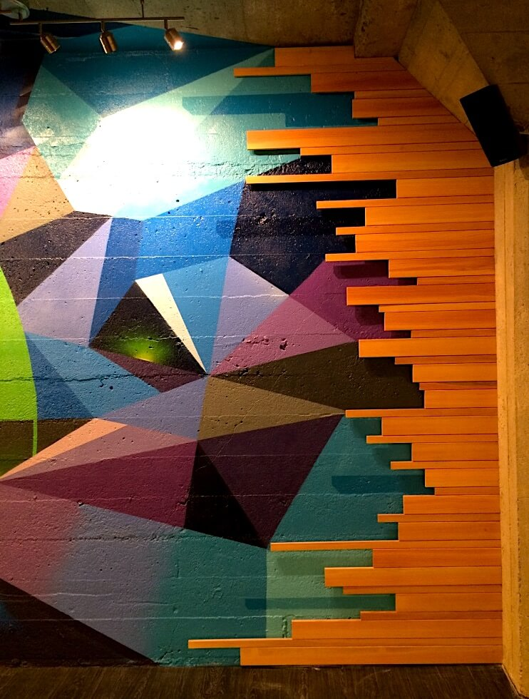 Commissioned Office Mural for IronSource | San Francisco USA, 2016