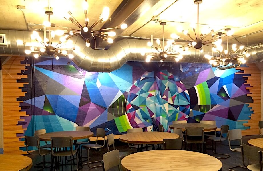 Commissioned Office Mural 2 for IronSource | San Francisco USA, 2016
