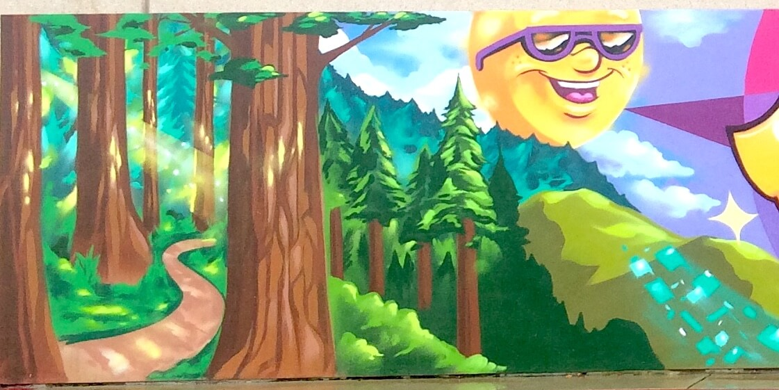 Commissioned Exterior Welcome Mural for Four Season Hotels and Resorts | Silicon Valley USA, 2016