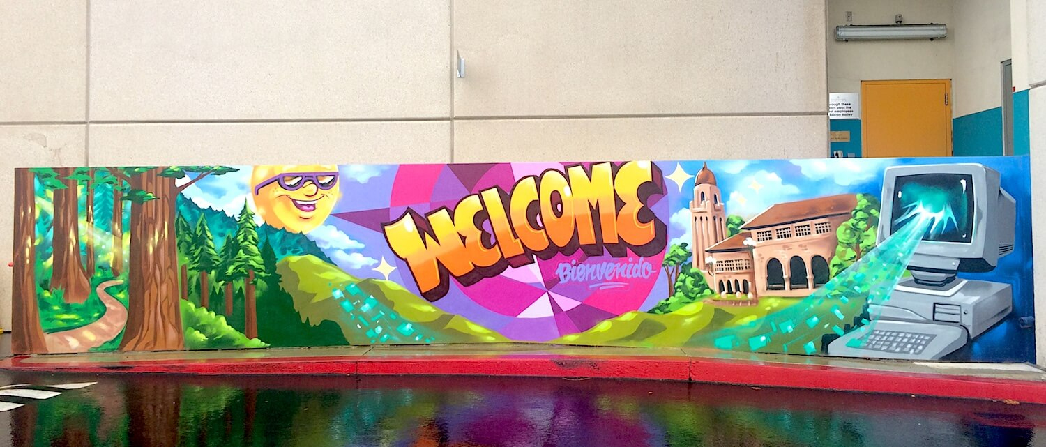 Commissioned Exterior Welcome Mural 2 for Four Season Hotels and Resorts | Silicon Valley USA, 2016