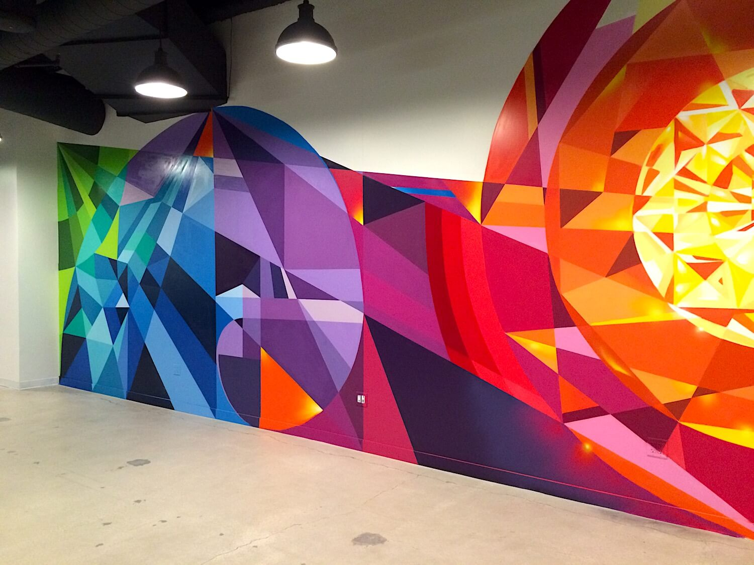 Commissioned Interior Mural 3 for EndemolShine | Los Angeles USA, 2016
