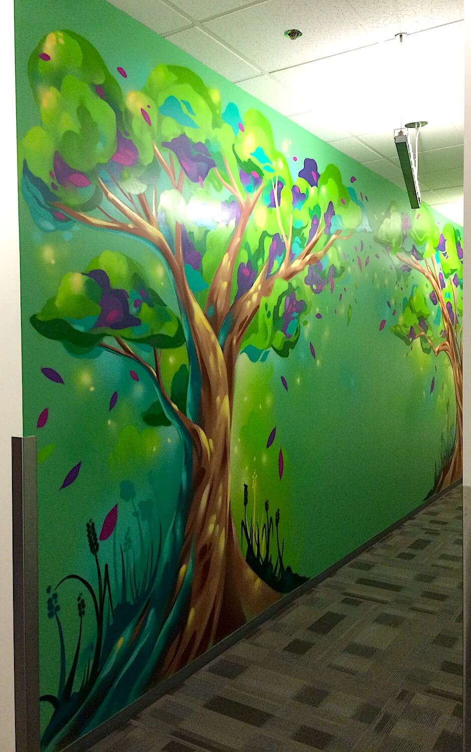 Commissioned Office Mural for Microsoft | Mountain View USA, 2016
