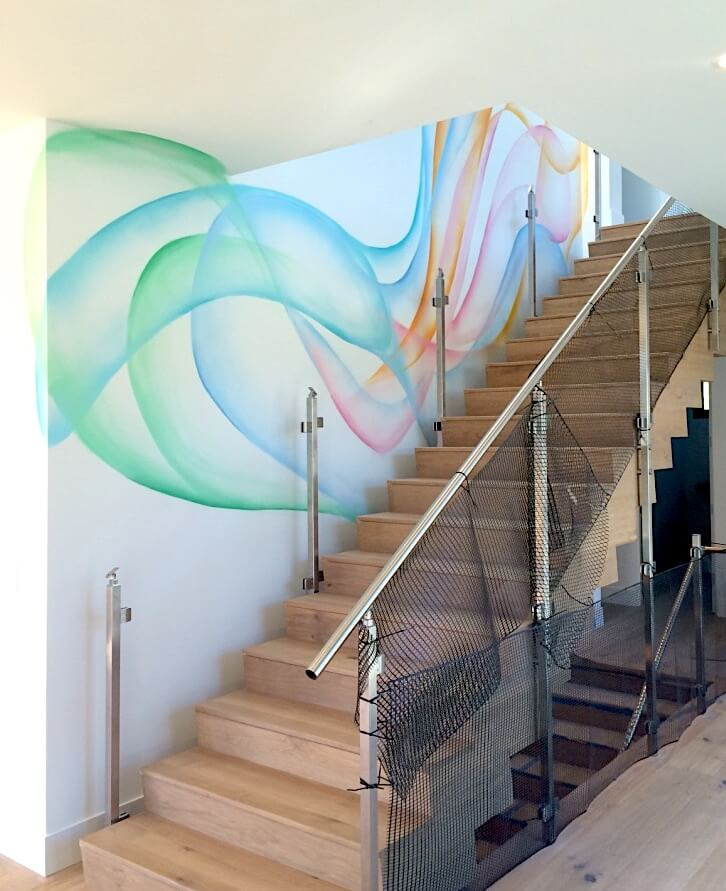 Commissioned Mural for Private Residence | Silicon Valley USA, 2016