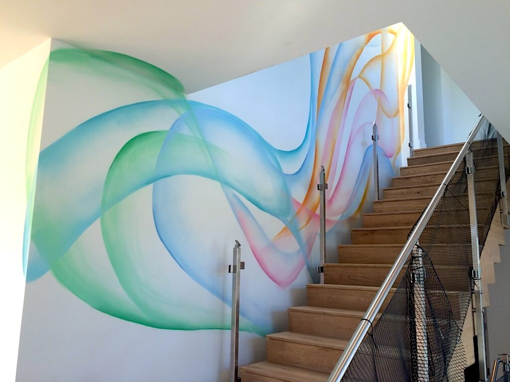 Commissioned Mural 2 for Private Residence | Silicon Valley USA, 2016