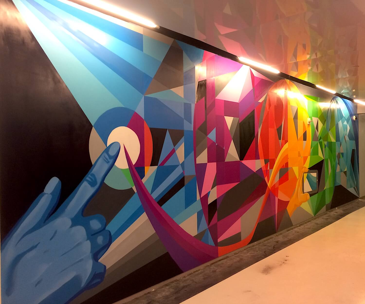Commissioned Office Mural for The Trade Desk | New York City USA, 2016