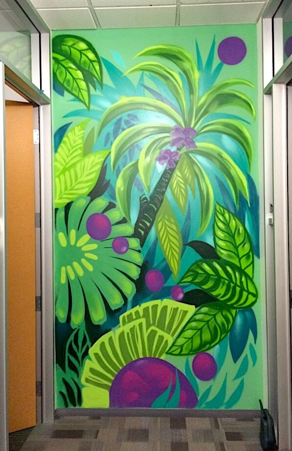 Commissioned Office Mural 3 for Microsoft  | Mountain View USA, 2016