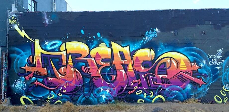 Treas Graffiti Mural | Los Angeles USA, 2016