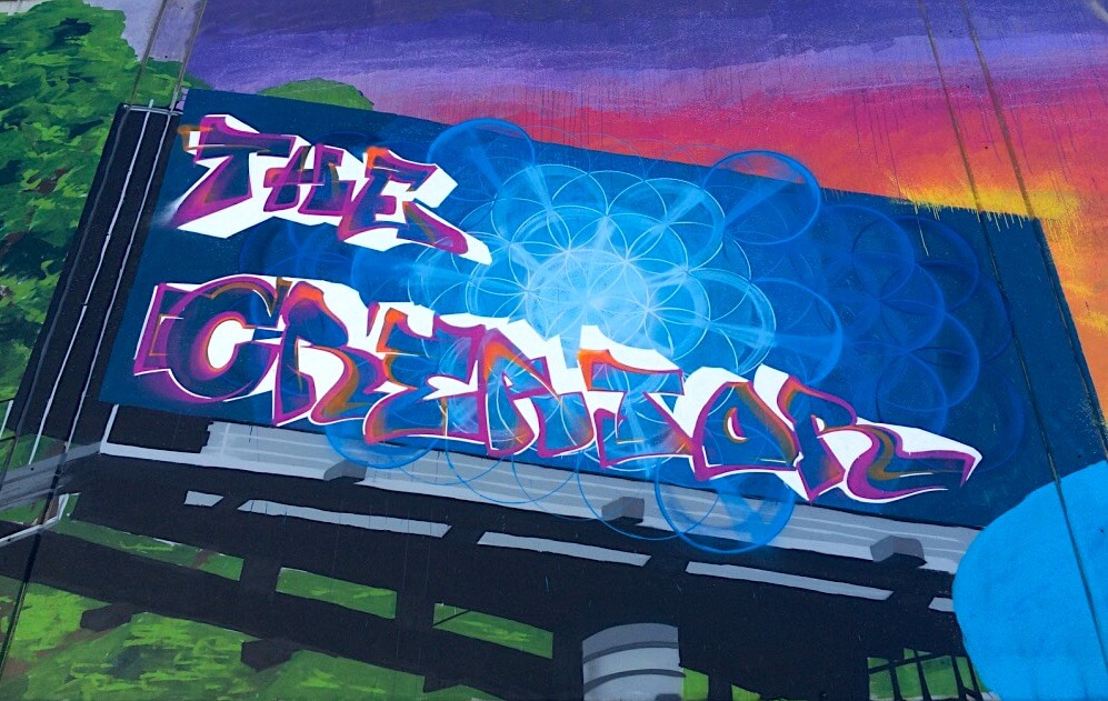 Commissioned Large-scale Exterior Mural 4 for Oakland School | Oakland USA, 2016
