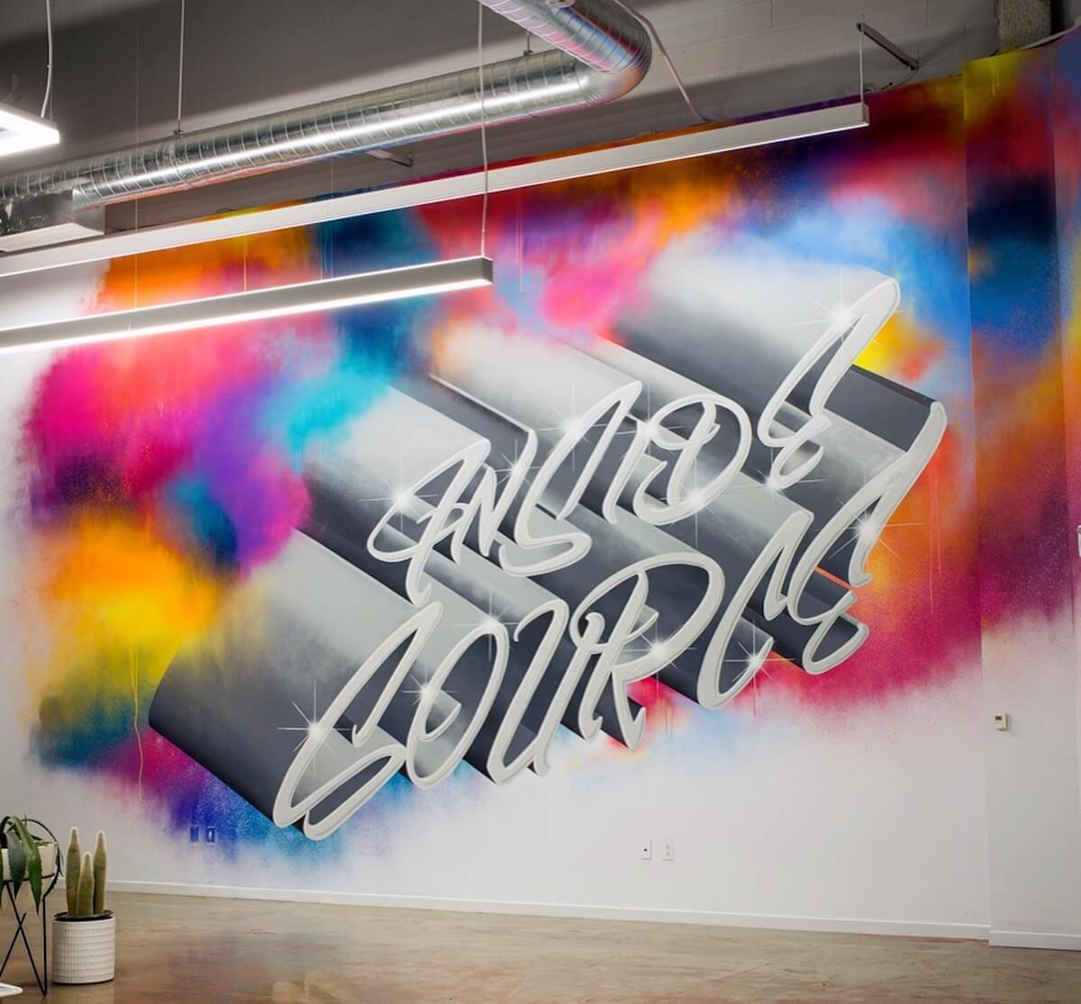 Commissioned Interior Mural for Inside Source | San Jose USA, 2017